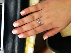 Love shellac! A coat of white, and a coat of light/baby pink over it. Great color for every season!
