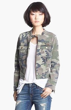 TEXTILE Elizabeth and James 'Wesley' Camo Jacket available at #Nordstrom...love this look!