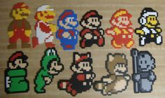 Evolution of Mario Powerups 11 pc. Set perler beads by Geekapalooza