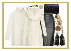 """""""Wool Coat: Contest Entry"""" by isquaglia ❤ liked on Polyvore featuring By Malene Birger, Tory Burch, J.W. Anderson, Yves Saint Laurent, Lancôme, Henri Bendel, STELLA McCARTNEY, Bony Levy and Estée Lauder"""