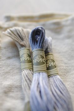 Blue linen embroidery threads #patternpod #beautifulcolor #inspiredbycolor