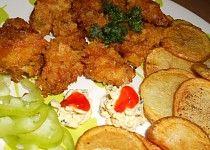 Vepřové kousky v česnekové Gyros marinádě a brambůrkách Tandoori Chicken, Food And Drink, Meat, Ethnic Recipes