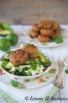 Thai-Style Baked Turkey Patties with Cabbage Slaw-3 (easily change out a few of the non-paleo ingredients)