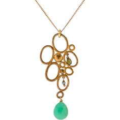 Pre-owned Alexis Bittar Fine Jewelry Multi-Gem Pendant Necklace ($125) ❤ liked on Polyvore featuring jewelry, necklaces, oval pendant necklace, gemstone jewelry, beaded pendant necklace, gemstone pendant necklace and bead chain necklace
