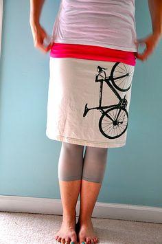DIY shirts into skirts