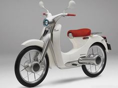 Honda EV-Cub Motorcycle Features All-Electric Drivetrain Inter-Vehicle Communications Best Electric Bikes, Electric Scooter, Electric Power, Electric Cars, Electric Motor Scooters, Scrambler Motorcycle, Motorcycle Style, Motorcycle Quotes, Motorcycle Girls