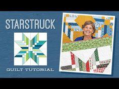 "Make a ""Starstruck"" Quilt with Jenny Doan of Missouri Star (Video Tutorial) - YouTube Jenny Doan Tutorials, Msqc Tutorials, Quilting Tutorials, Quilting Ideas, Missouri Star Quilt Pattern, Missouri Star Quilt Tutorials, Jelly Roll Quilt Patterns, Star Quilt Patterns, Star Quilt Blocks"