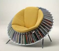 This sunflower book seat. | 22 Things That Belong In Every Bookworm's Dream Home