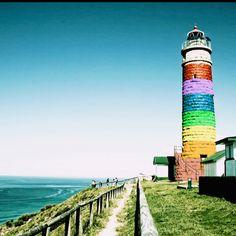 Rainbow Lighthouse by Lisa Cavalli