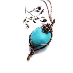 Hey, I found this really awesome Etsy listing at https://www.etsy.com/listing/87137621/elvish-tear-necklace-blue-rustic-long