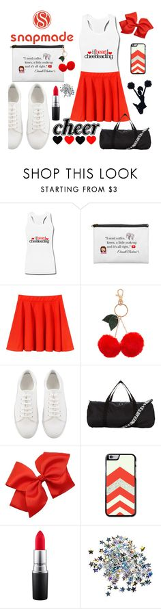 """Snapmade Cheer Squad"" by emc0814 ❤ liked on Polyvore featuring Accessorize, Under Armour and MAC Cosmetics"