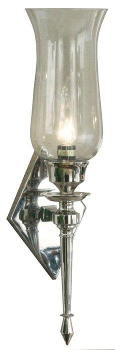 Chris bordlampe i glass og krom med hvit skjerm. a mØbler ...