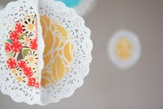 What a great way to use doilies!