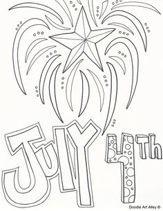 Independence Day Coloring Pages From Doodle Art Alley