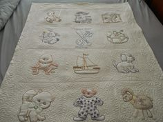 charming candlewick baby quilt, from the i dew quilting blog (dewquilting)
