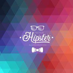 Hipster background. Vector illustration.