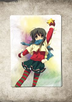 Clannad: After Story Fuko Ibuki Anime Manga Watercolor Print Poster Giclee 13'' x 19'' Super A3 No502 by masterofposter on Etsy