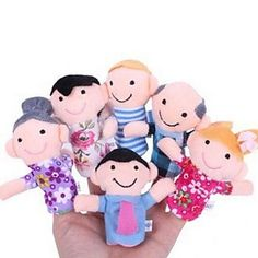 Family Members Baby Finger Puppets Baby Tell Stories Helper Stuffed Plush Dolls - USD $ 3.19