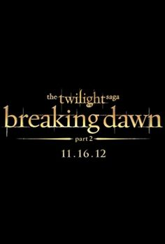 Breaking Dawn Part 2 - last movie in the saga