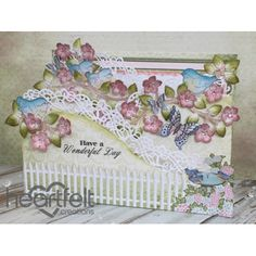 Heartfelt Creations - Birds And Blooms Foldout Card Project