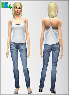 Jeans 1 at Irida via Sims 4 Updates Sims 3, Sims Love, Sims 4 Mods, Sims4 Clothes, Sims 4 Cc Skin, Sims Games, Sims 4 Update, Sims 4 Clothing, The Sims4