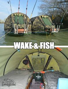 Gone fishing. camping and fishing at the same time