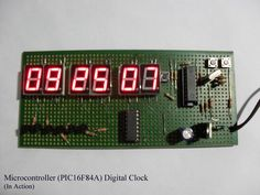 7 segment digital clock schematic get free image about Led Arduino, Picture Clock, Pic Microcontroller, Diy Clock, Electronic Engineering, Electronics Projects, Digital Alarm Clock, House Design, Bow