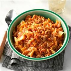 Soup-Bowl Cabbage Rolls Recipe -This fabulous alternative to traditional stuffed cabbage rolls is so handy for busy weeknights. It warms you up from head to toe. —Terri Pearce, Houston, Texas