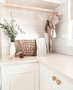 is inspiring us with this laundry. Using our Brunswick Kit Kat tiles. Who else is thinking of using them? Laundry Room Design, Laundry In Bathroom, Laundry Rooms, Laundry Room Layouts, Laundry Room Inspiration, White Tiles, Reno, Interior Design Inspiration, Home Office