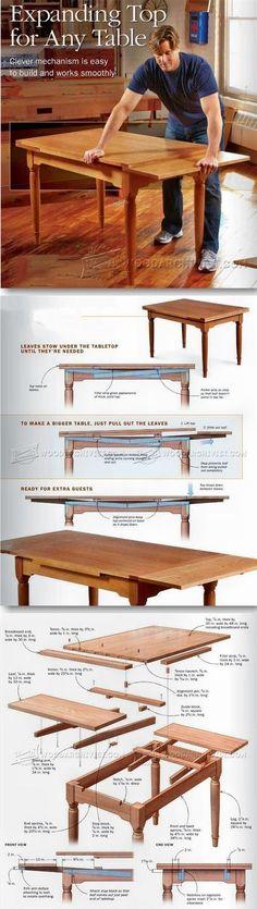 Expanding Table Plans - Furniture Plans and Projects | WoodArchivist.com