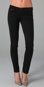 AG Stilt Cigarette jeans in black