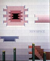 """New space"" 1979, Galleria Comunale d'Arte Contemporanea, Arezzo"