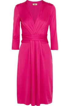 This is EVERYTHING I love in a dress. If only....... Issa Ruched silk-jersey dress | THE OUTNET