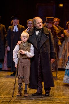 J.C. Cutler as Ebenezer Scrooge with Noah Ross as Tiny Tim.     A Christmas Carol @ Guthrie Theater, Minneapolis (Saturday November 24, 2012)