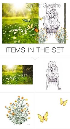 """""""Summer Sunshine"""" by gardeninspired ❤ liked on Polyvore featuring art"""
