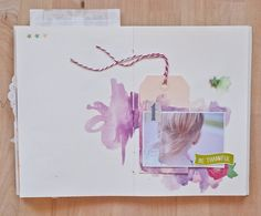 scraobooking mini album watercolor Серафима и Скрапбукинг
