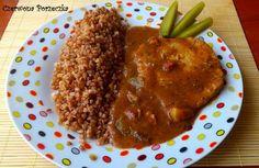Czerwona Porzeczka: Schab w sosie myśliwskim Risotto, Grains, Beef, Dishes, Chicken, Ethnic Recipes, Food, Meat, Tablewares