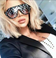 Fendi Mirrored Gray Fabulous Prints On Ff Shield Sunglasses Buy Sunglasses, Sunglasses Online, Mirrored Sunglasses, Sunglasses Women, Oversized Aviator Sunglasses, Fendi Glasses, Fashion Eye Glasses, Black Women Fashion, Womens Fashion