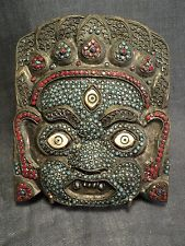 Masque Ancien Chinois Antique Original Brass China Hand Made Mask