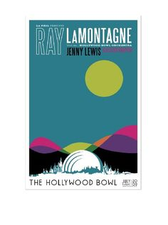 Ray LaMontagne concert poster. Love the simplicity of the design.
