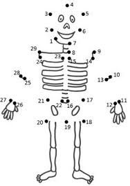 Easy dot to dot worksheets - Body Preschool, Preschool Learning, Learning Activities, Activities For Kids, Human Body Systems, Connect The Dots, Halloween Coloring, Colouring Pages, Pre School