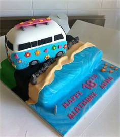 Kombi cake beach vw bus