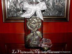 MANUALIDADES LA VENTANA DE MARIA DEL CARMEN : botellas decoradas