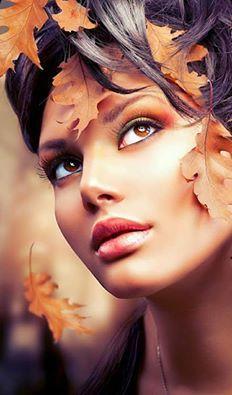 Photo about Autumn Woman Fantasy Fashion Portrait. Image of fashion, lady, beauty - 45494725 Girl Face, Woman Face, Beautiful Eyes, Beautiful Women, Mujeres Tattoo, Face Reference, Foto Art, Female Portrait, Stylish Girl