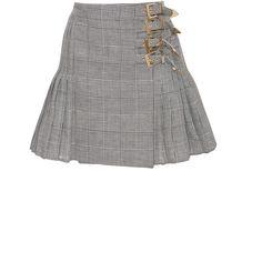Antonio Berardi Melone Skirt (€1.295) ❤ liked on Polyvore featuring skirts, grey, antonio berardi, gray high waisted skirt, gray pleated skirt, gray skirt and pleated skirt