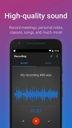 "Easy Voice Recorder Pro v2.2 build 11021   Easy Voice Recorder Pro v2.2 build 11021Requirements:4.1 | LPOverview:Easy Voice Recorder Pro is a simple fun and easy to use voice recorder. Easy Voice Recorder Pro is a simple fun and easy to use audio & voice recorder. Use it to record meetings lectures and personal notes without time limits or ads!  This is the professional version. To try before you buy search for ""Easy Voice Recorder"" or follow this link:http://ift.tt/SIGHYH... cerecorder Core…"