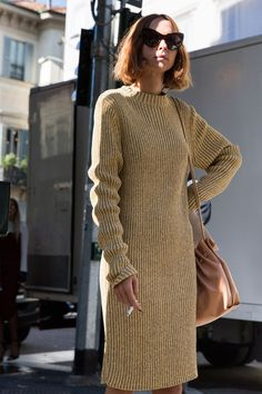#CandelaNovembre simple sweater dress. Milan