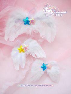 [Soft] Japanese girl spank nile PERCH ☆ Star angel wings bow hairpin side folder - Taobao