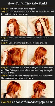 How To do The Side Braid | Pinterest Tutorials