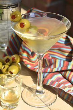 Dirty Martini ~ vodka, olive juice